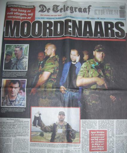 """Telegraaf 19.Juli2014, """"Mörder"""""""